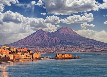 Naples from Underground to the Vesuvius